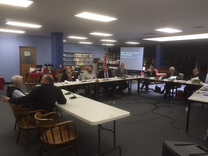 Members of the Rutland South Supervisory Union make a presentation to the State Board of Education at a meeting in North Clarendon Tuesday. The board approved consolidation plans from three supervisory unions.