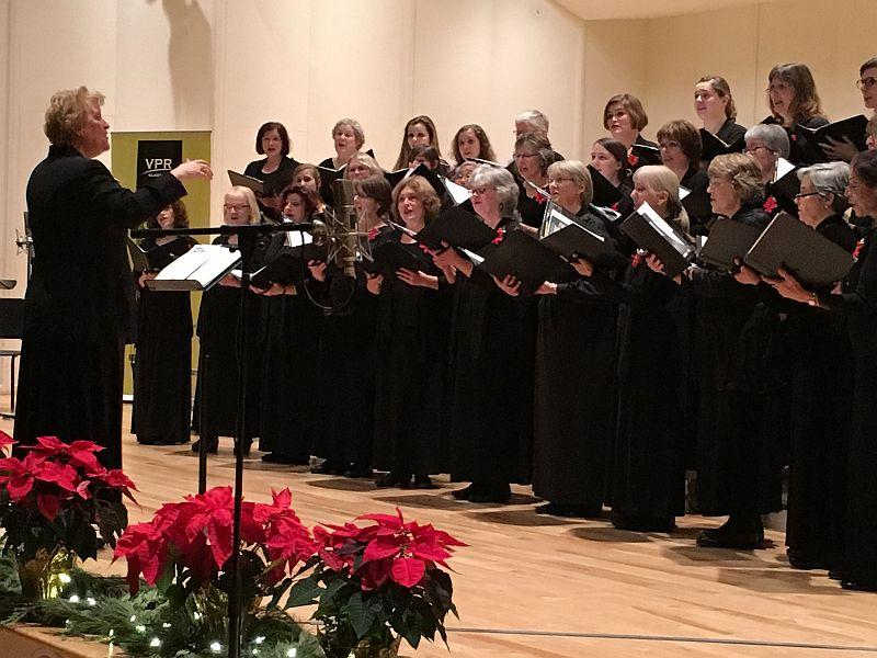 Dawn Willis conducts the Bella Voce Women's Chorus at VPR's annual holiday concert.