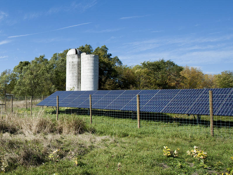 A SunCommon community solar site in Shoreham. The Vermont Attorney General has issued a reminder to all solar companies operating in Vermont that they must abide by federal guidelines when marketing their energy to consumers.