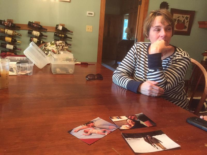 Jennifer Heald's son, Dan, in photos in the foreground, died of a heroin overdose. Heald attends Nar-Anon meetings, where family members affected by addiction talk about their challenges in a safe environment.