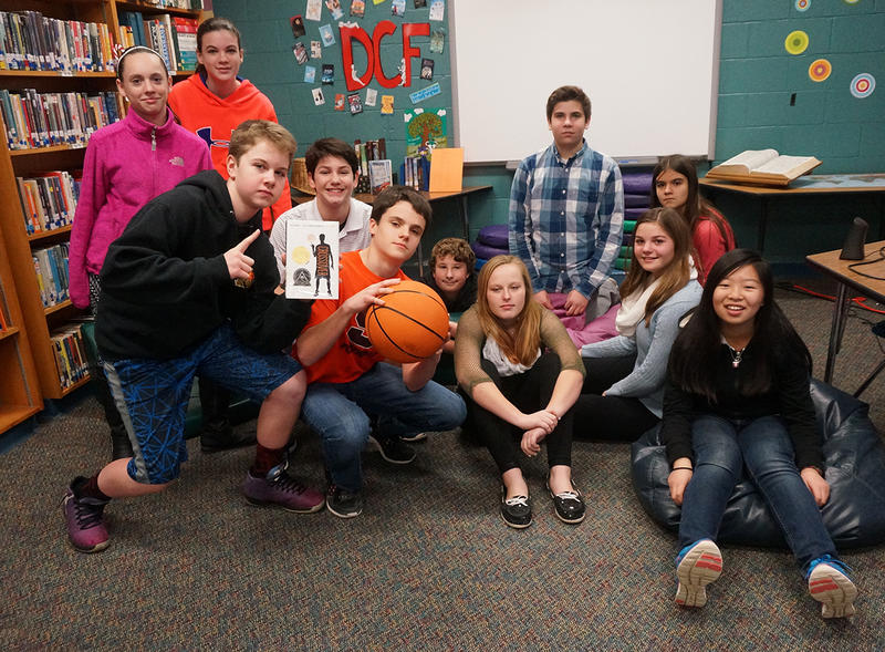 Reading 'The Crossover' was a slam-dunk for these seventh and eighth graders at Rutland Town School.