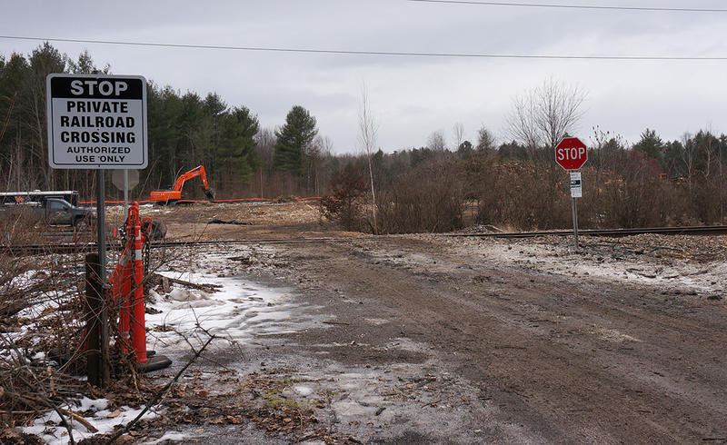 A recent court decision clears the way for Vermont Rail to move its road salt storage and transportation operation to this lot off Route 7 in Shelburne.