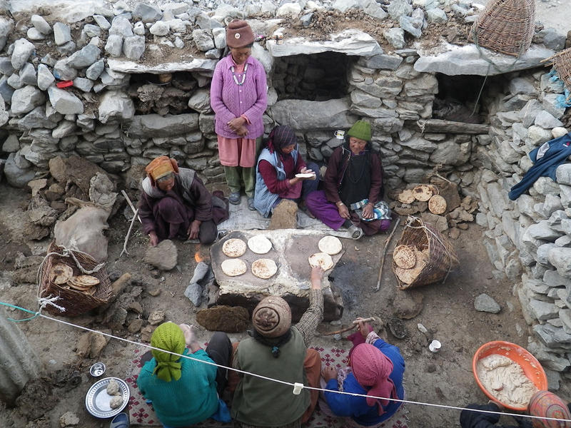A temporary dung-fired oven in the Himalayan village of Kumik. Writer Jonathan Mingle documents the impact that emissions from stoves such as these have on the global climate, as well as human health.