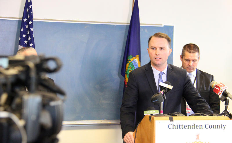 Chittenden County State's Attorney and Democratic candidate for attorney general TJ Donovan, shown here in January, says he wants to ban the practice of sending Vermont inmates to prisons out of state.