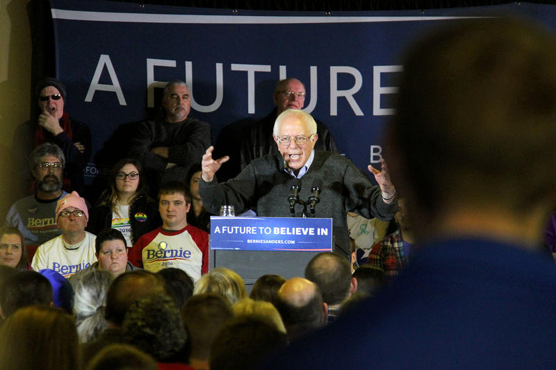 Nearly 700 people turned out to see Sen. Bernie Sanders in Clinton, Iowa on Saturday. Recent polls show Sanders in a dead heat with Hillary Clinton, and both candidates are racing through the state to reach as many caucus-goers as possible.