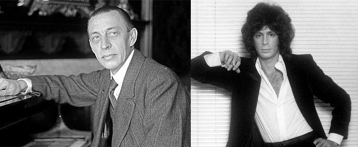 Russian composer Sergei Rachmaninoff and American singer/songwriter Eric Carmen.
