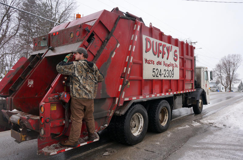 Voters in Fairfax will consider doing away with town-wide curbside trash and recycling pickup on Town Meeting Day.