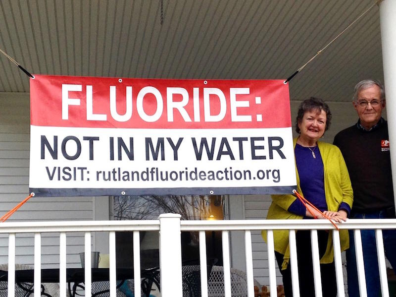 Kathleen Krevetski and Jack Crowther of Rutland both oppose fluoride being added to the city's water. Rutland will hold a vote on water fluoridation on Town Meeting Day, but the final decision is left to Rutland's Public Works Commissioner.