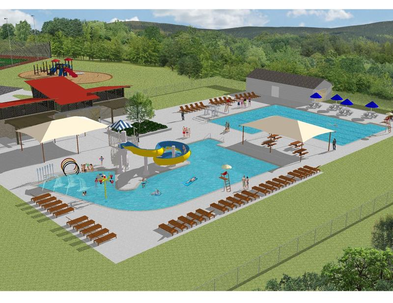 An architectural rendering of Rutland City's proposed $2.5 million pool. The new facility would replace White's pool, which closed in 2014 after more than 40 years.