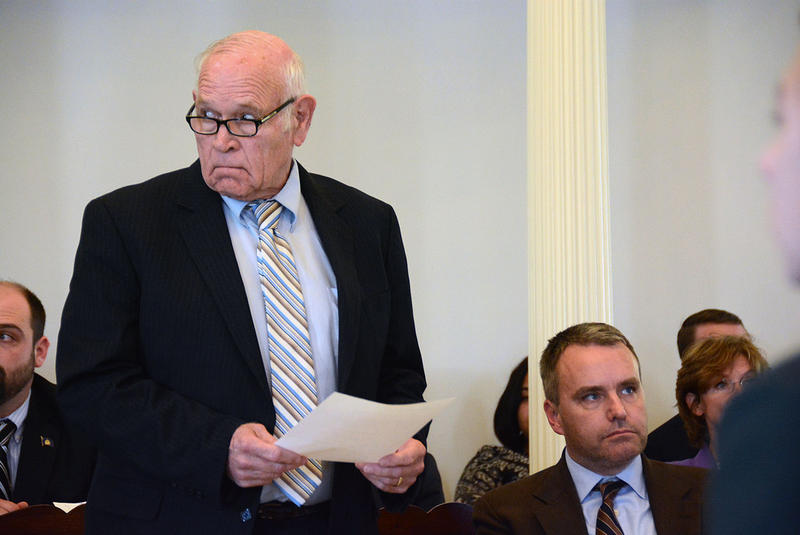 Bennington County Sen. Dick Sears, seen here on the Senate floor in a 2016 file photo, says the extreme risk bill approved by the Vermont Senate Wednesday could prevent acts of gun violence.