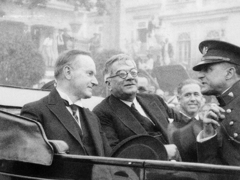 President Calvin Coolidge was the last American president to visit Cuba, back in 1928. Coolidge (left) seen here with then Cuban president President Gerardo Machado during his trip.