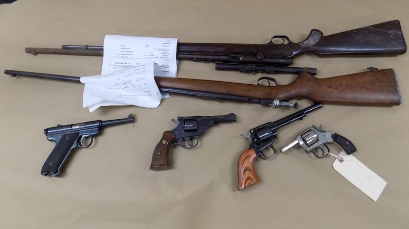 State officials are trying to decide who is responsible for storing and or destroying firearms that are no longer needed for evidence. For now, guns like these, at the Middlebury Police Department, are taking up space in evidence rooms.