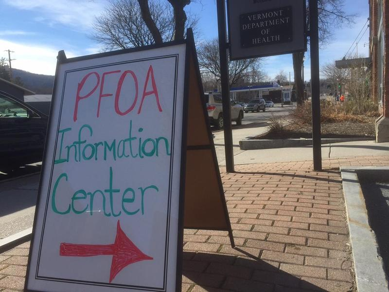 The Vermont Department of Health opened a PFOA information center in downtown Bennington Saturday after testing revealed widespread contamination among homes near the former Chemfab factory.