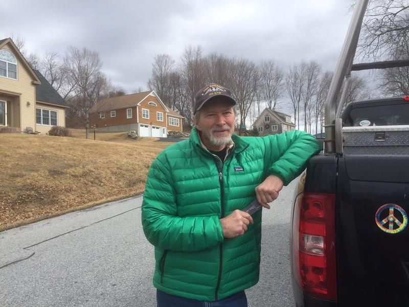 Jim Goodine developed land above the Chemfab plant in North Bennington. He complained about emissions from the plant in the 1990s.