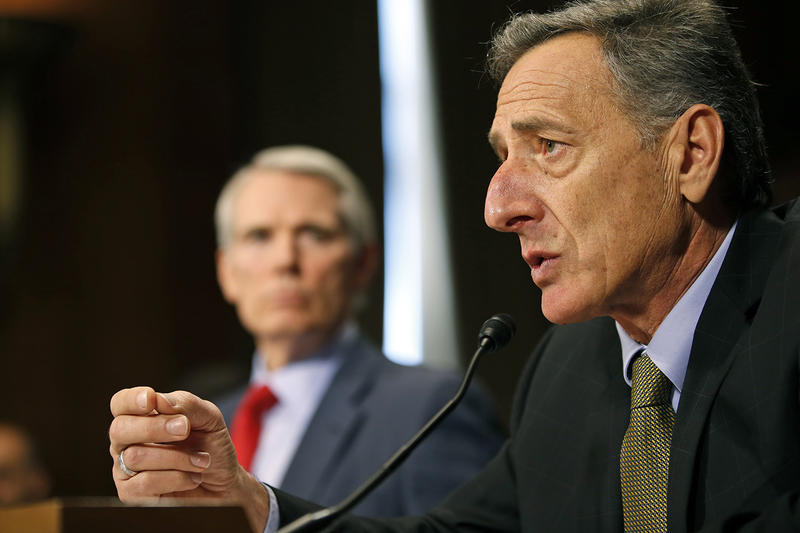 Speaking on Vermont Edition on Thursday, Gov. Peter Shumlin, shown here in Washington, D.C., in January, would not say how he would vote if Vermont Sen. Bernie Sanders captures the popular vote in the nation's primaries.