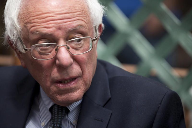 Sen. Bernie Sanders campaigned in the Bronx Monday in advance of Tuesday's New York Primary.