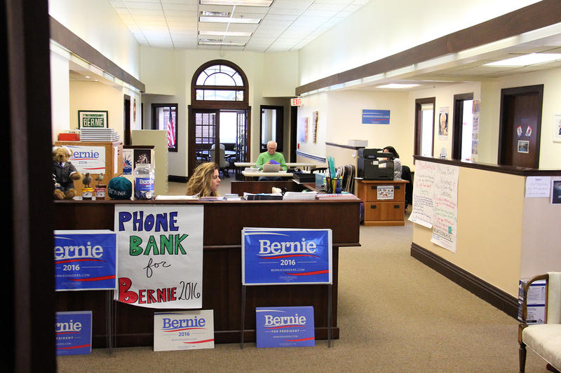 After losses in four of five primaries Tuesday, Sen. Bernie Sanders' campaign announced staff cuts. In Sanders' campaign headquarters on Church Street in Burlington, staff refused to answer questions about the number of campaign jobs cut in Vermont.