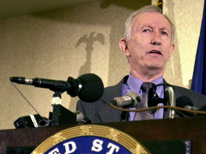 Senator Jim Jeffords made the announcement that he was leaving the GOP at the Radisson Hotel in Burlington.