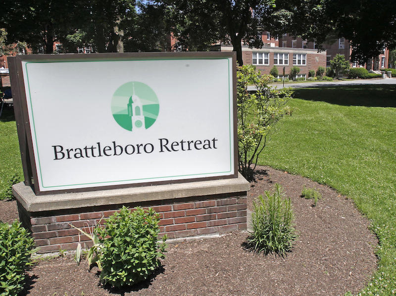 A Brattleboro Retreat sign.