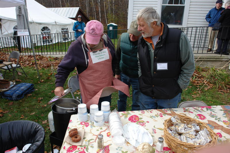 Soup is one of many turnip-themes foods at the Gilfeather Turnip Festival. The annual harvest event has supported renovations to the Wardsboro Library.