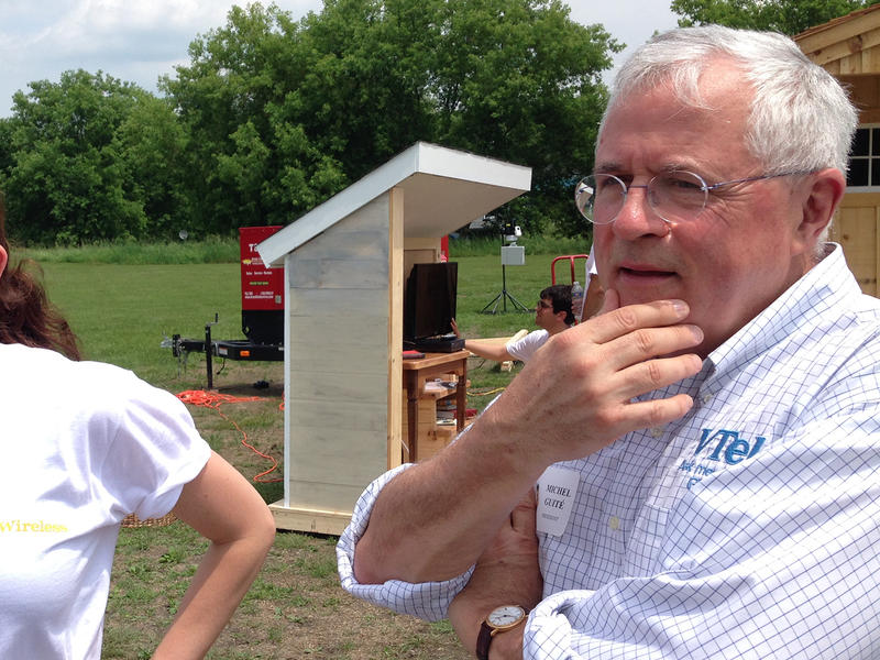 """VTel president Michel Guite, shown here in 2014, recently told House lawmakers that """"VTel never committed to serve all unserved households."""" But officials believe VTel may have fallen fall short of promises it's made in the past."""