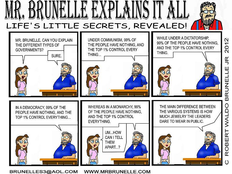 "Robert Brunelle has been writing his comic, ""Mr. Brunelle Explains It All,"" since the late '90s."