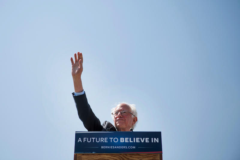 Sen. Bernie Sanders, seen here at an event in Rapid City, S.D. and his campaign have brought tensions around the role of superdelegates to the forefront. Now, some in the state Democratic Party want to change how they're doled out in Vermont.