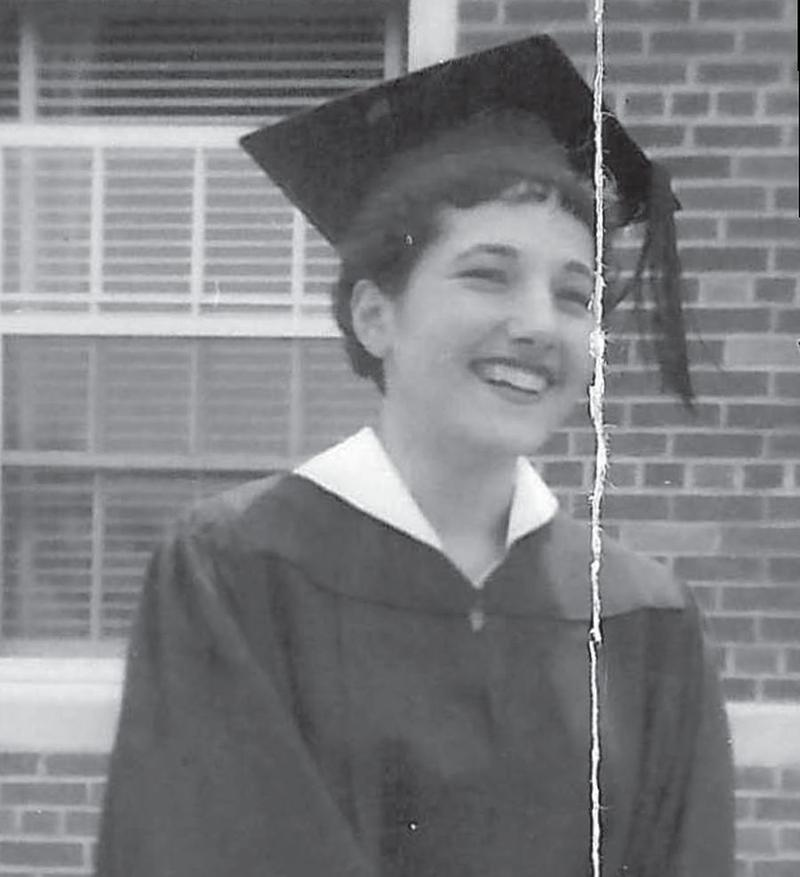 Alice Walrath, photographed at her graduation from Duke University in 1954.