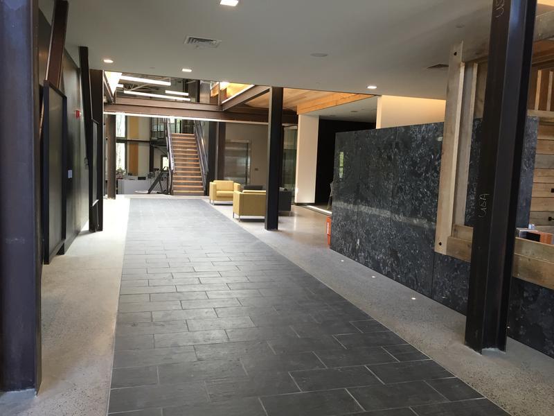 The new lobby.