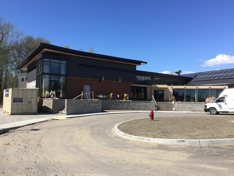 New main entrance.