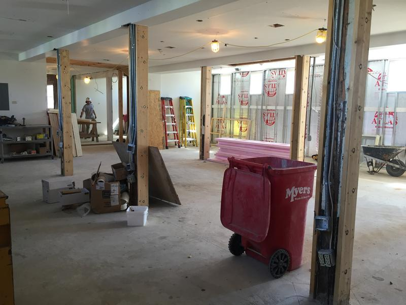 Another view of the music libary under construction.