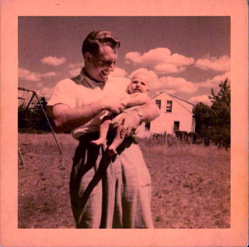 Baby Robert witih his dad, Arnold E. Resnik (1925-2015)
