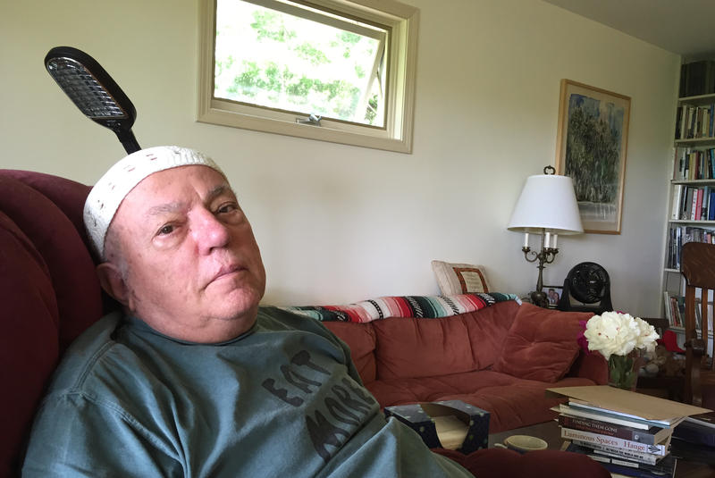 """Writer David Budbill, pictured at home in Montpelier, was diagnosed with progressive supranuclear palsy a year ago. He spoke to """"Vermont Edition"""" about the effects of his illness."""