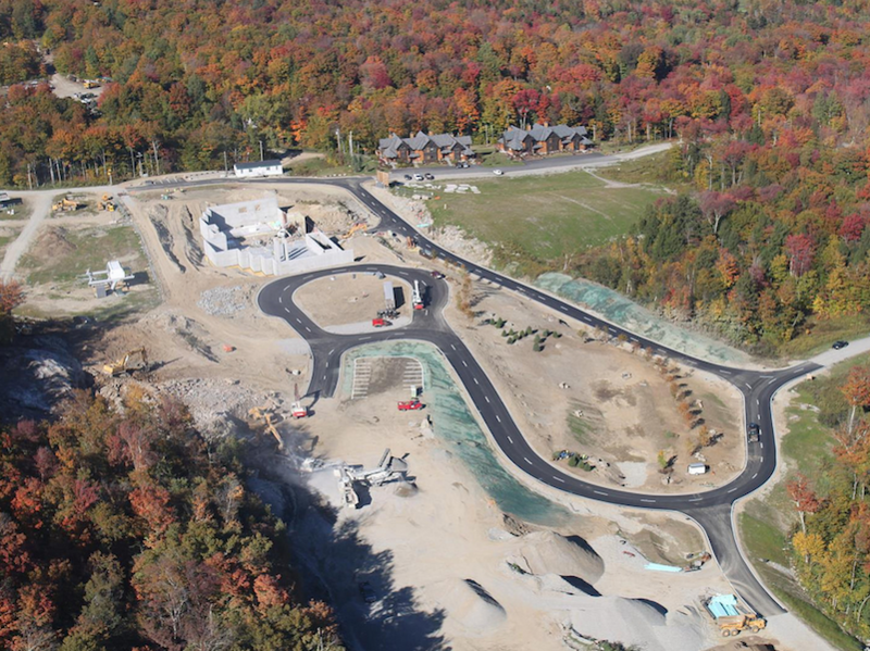 An aerial look at the construction site from 2013. Owner Jim Barnes says the Act 250 permitting process has delayed construction.