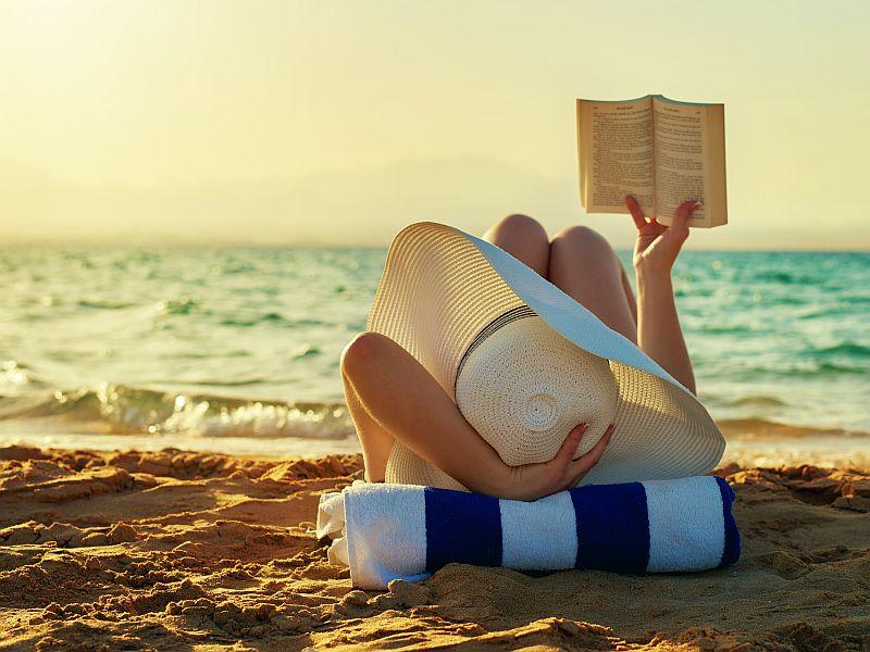 Long, lazy days at the beach are perfect for summertime reading.