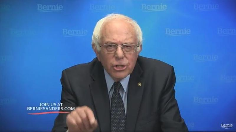 Sen. Sanders concluded Thursday's live webstream to supporters by hoping that future historians would mark 2016 as the beginning of a political revolution against oligarchy.
