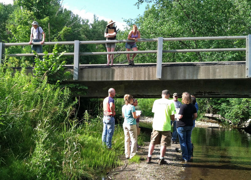 Residents and town officials in the Flower Brook Watershed took part in an educational walk along the brook on July 18. Two similar walks are among the events planned in the coming month.