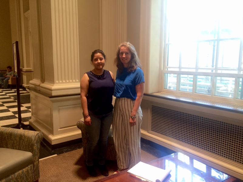 "Estefani Marin, left, and Jill Baron were part of a larger effort by students to take the term ""illegal alien"" out of Library of Congress subject headings. But the issue has caught the attention of Republican lawmakers."
