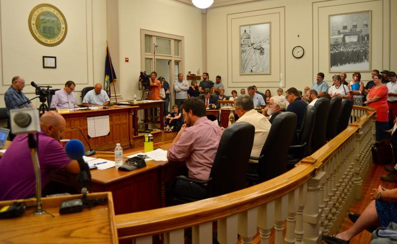 About 100 people attended an emotional meeting of Rutland City's Board of Aldermen Tuesday night. The board was debating whether or not to allow local voters to weigh in on a proposal to bring 100 Syrian refugees to Rutland.