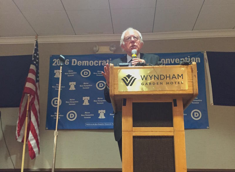 Sen. Bernie Sanders addressing the Vermont, Maine and New Hampshire delegations Wednesday morning. You can check out the full video of his remarks below.