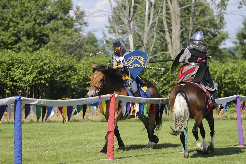 "Members of the Silver Knights Joust Team display their skills at the Vermont Renaissance Faire in Stowe in June. In this installment of ""Summer School,"" learn about how to be a ""rennie."""