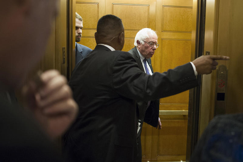 Though he hasn't suspended his presidential campaign, Sen. Bernie Sanders still moves through the world surrounded by a large Secret Service detail. Sanders has recently gotten back into the swing of things representing Vermont in the U.S. Senate.