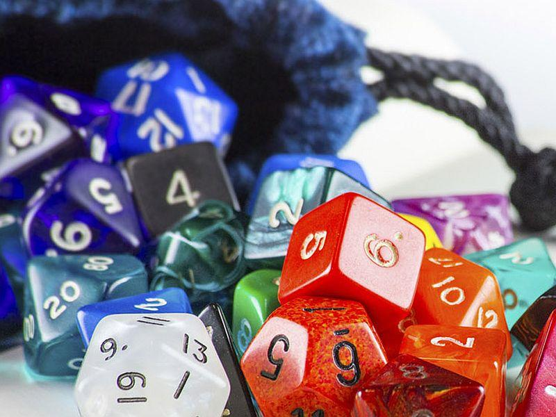 Even the dice are different from when you played games as a kid.