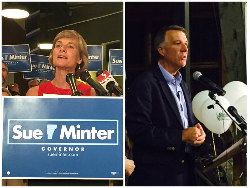 The Associated Press called the Vermont gubernatorial primaries for Sue Minter (D) and Lt. Gov. Phil Scott (R) Tuesday night.