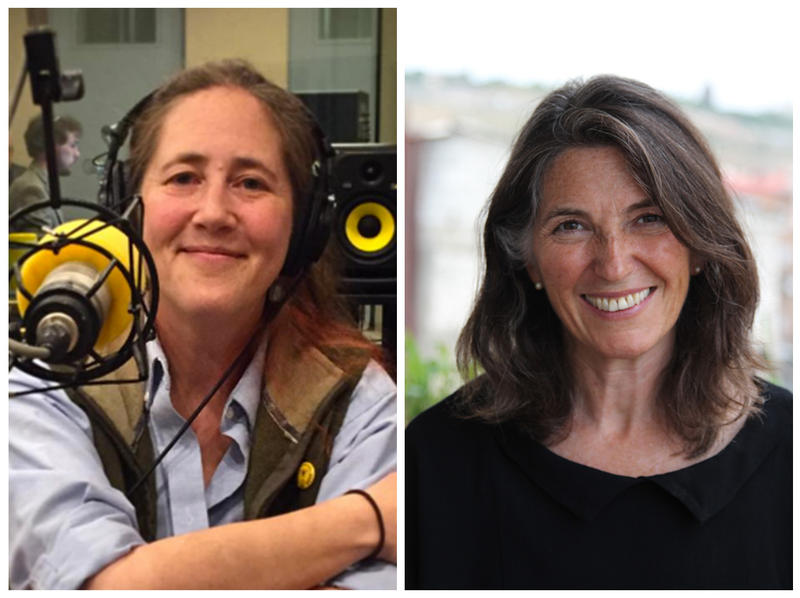 Jessamyn West, left, came to the VPR Studios in Colchester in May to discuss the role libraries play in our society. Writer Dana Walrath, right, spoke to the program in May about caring for her mother after she was diagnosed with Alzheimer's disease.
