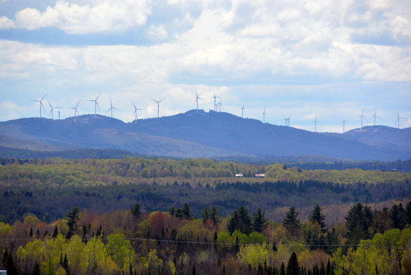 Green Mountain Power's Kingdom Community Wind project is on Lowell Mountain.