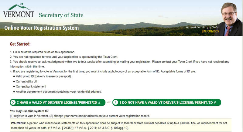 Vermonters can now register to vote online, but the deadline to register to vote on the August 9 primary is 5 p.m. on August 3.