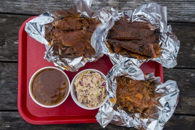 Pork & Pickles Barbecue in Essex, a new barbeque restaurant in Vermont, serves a range of dishes including pulled pork sandwiches, fried chicken and coleslaw.