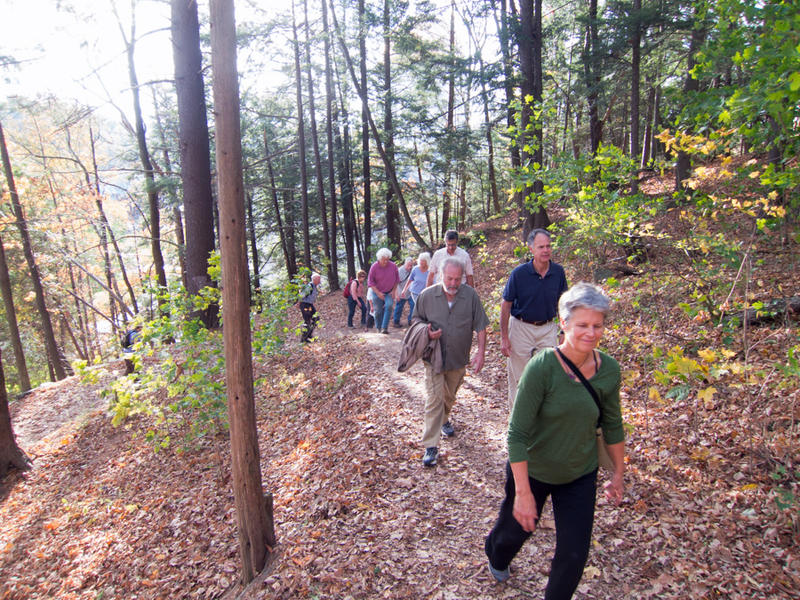 A tour during a previous We Walk Week took participants through Hubbard Park to learn about the park's natural and human history.