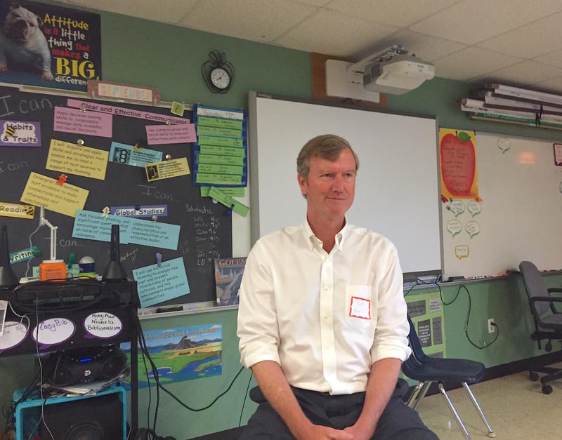 On Thursday, Scott Milne visited his hometown elementary school, Washington Village School, to talk to students about his campaign for Senate. He's expected to officially announce his bid Saturday.